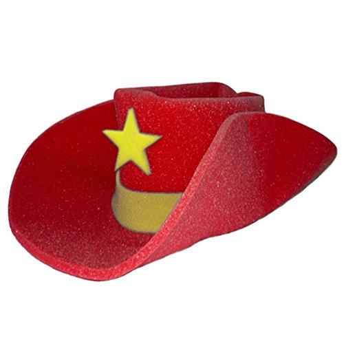 Novelty Foam (Giant RED Foam Cowboy Western Novelty Hat)