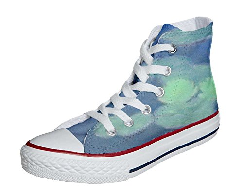 mys Converse All Star Zapatos Personalizados Unisex (Producto Handmade) Fiori Bianchi