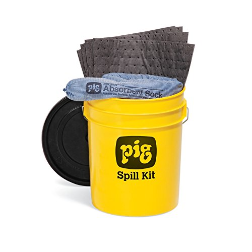 PIG Spill Kit in 5-Gallon High-Visibility Economy Container - KIT2200 by New Pig Corporation