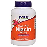NOW Flush-Free Niacin 250 mg,180 Veg Capsules For Sale