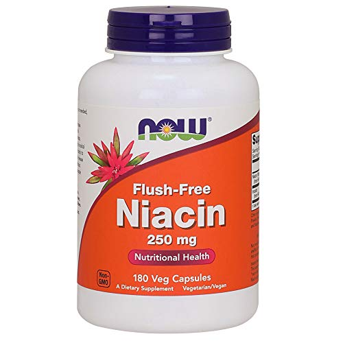 Now Flush-Free Niacin 250 mg 180 Veg Capsules