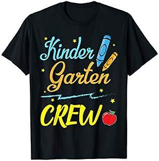 Crayons Kindergarten Crew Team Student Teacher Senior T-shirt | Size S - 5XL