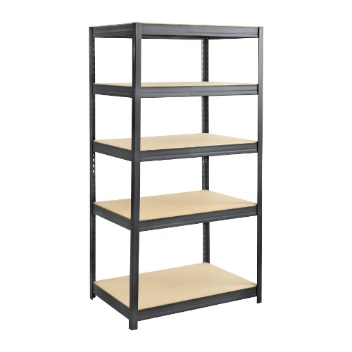 (Safco Products 6247BL Boltless Steel and Particleboard Shelving 36