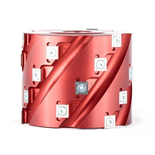 Insert Shaper Cutters - Amana Tool 61283 Insert Carbide Aluminum Roughing Spiral Planer 24 Teeth x 5 D x 4 CH x 1-1/4 Bore Shaper Cutter