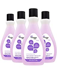 Mountain Falls Professional Strengthening Nail Polish Remover with Vitamin E & Panthenol, Paraben-free, Salon Formula, Compare to Cutex, 6 Fluid Ounce (Pack of 4)