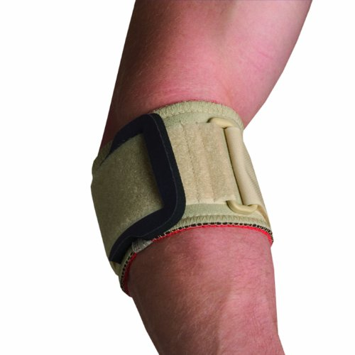 Thermoskin Tennis Elbow Strap with Pad, Beige, Medium - Tennis Elbow Strap With Pad