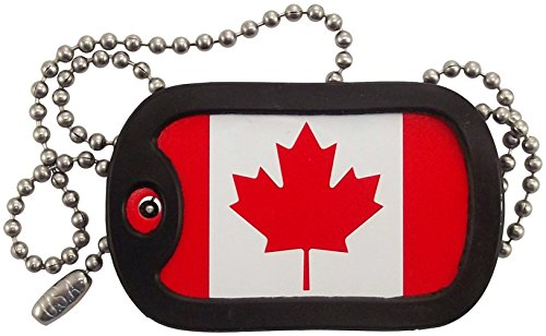 Canadian Jewelry (Military Dog Tags - Canadian Flag Dog Tag Necklace - Tag-Z)