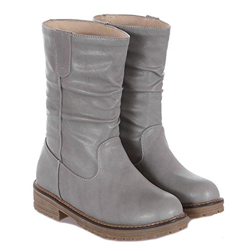 RAZAMAZA Women Boots Pull On Gray Y1Oi9GnX