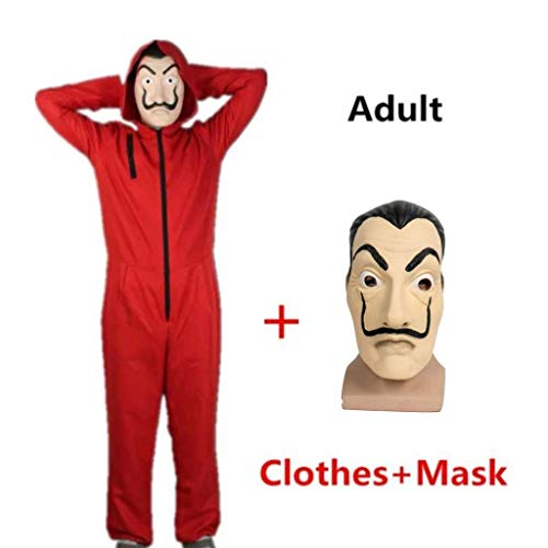 Halloween 2019 Coveralls (2018 Hot La Casa De Papel Hallowen Cosplay Party Costume Red Coverall)