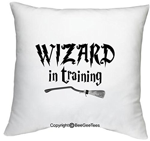 Training Throw Pillow (BeeGeeTees Wizard in Training Funny Harry Potter Inspired Hogwarts 18