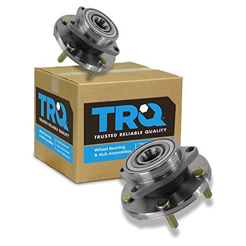 TRQ Front Wheel Hubs & Bearings Pair Set for Chrysler Dodge Mitsubishi 5 Lug ()