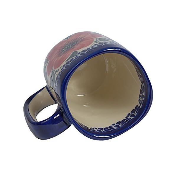 Traditional Polish Pottery, Handcrafted Ceramic Tall Square Mug (275ml / 9.7 fl oz), Boleslawiec Style Pattern, Q.401.MALLOW