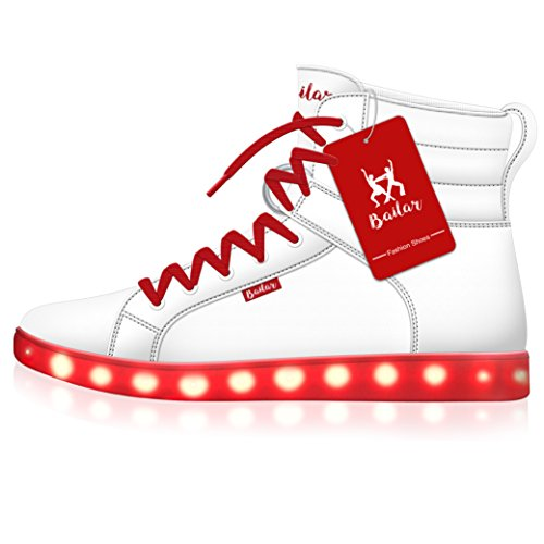 Led shoes (11 B(M) US, White)