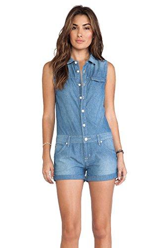 Hudson Jeans Harmony Romper, Borderline, Small