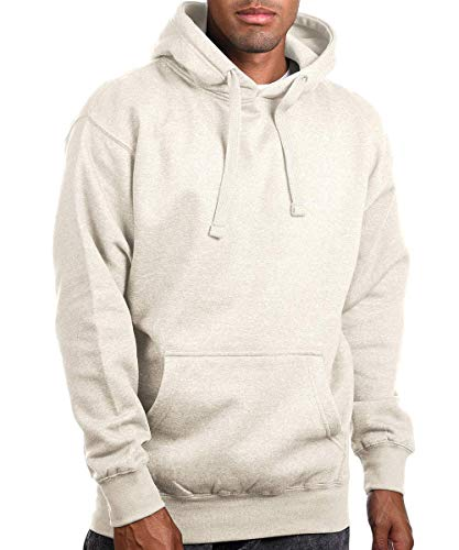 - Circular Pullover Fleece Hoodied Sweatshirts for Men & Women - Heavy & Soft Cotton [Oatmeal/XL]
