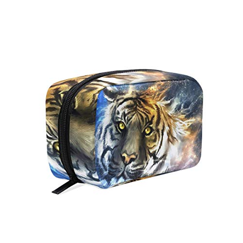 Makeup Organizer Tiger Galaxy Womens Zip Toiletry Bag Large Case Cosmetic Bags