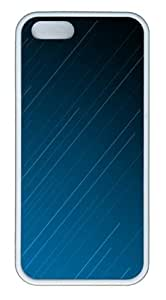 Apple iPhone 5S Cases - Blue Lines TPU Case Cover for iPhone 5S and iPhone 5 - White