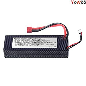 YoWoo 7.4V 6000mAh 60C-120C 2S LiPo Battery Hard Case for RC Traxxas Cars Boat Truck Buggy Truggy(5.43x1.81x0.98inch,0.64lb)