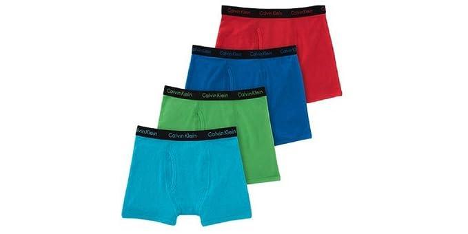 c666fe979a6b05 Amazon.com: Calvin Klein Cotton Stretch Boys' Boxer Briefs (4 Pack ...