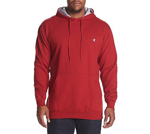 Champion Men's Big & Tall Fleece Pullover Hoodie Crimson Red 2X Tall