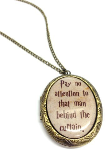 (Fallen Saint Pay No Attention To That Man Behind The Curtain Cameo Locket Necklace - Gift ...)