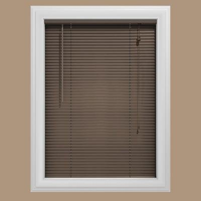(Bali Today Char Brown Aluminum Mini Blind 1 in. Slats, 65 in. Length (Price Varies By Size))
