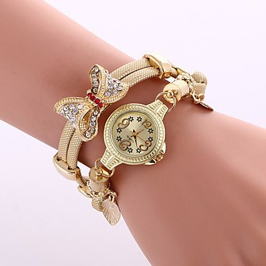 Fashion Watches Relojes Mujer 2016 Wrist Watches For Women Bow Metal Watch Bracelets Fashion Ladies Watch