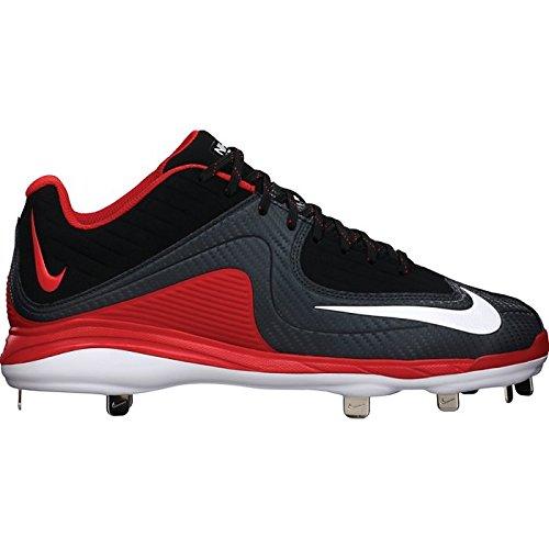 Tacchetti Da Baseball Nike Mens Air Mvp Pro Metal Ii Nero / Rosso Università / Bianco