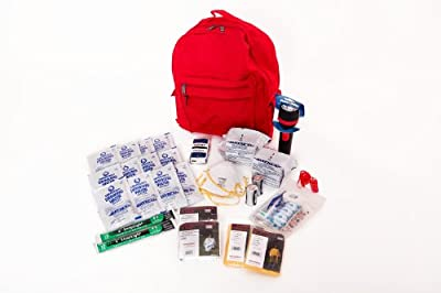 2 Person Essential Survival Kit Perfect for Earthquake, Evacuation, Emergency Disaster Preparedness 72 Hour Kits for Home, Work or Auto: 2 Person