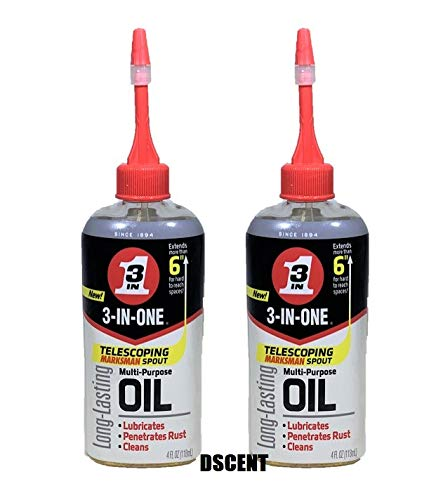 - 3-IN-ONE Multi-Purpose Oil with Telescoping Marksman Spout, 4 OZ (2 - Pack)