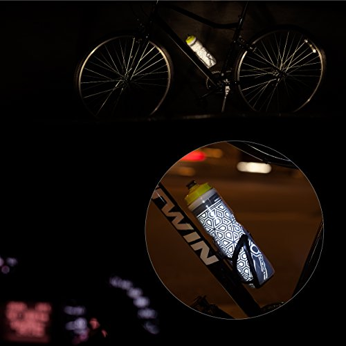 26oz Cycling Bike Water Bottle Cage Bycicle BPA Free Reflective Double Insulated
