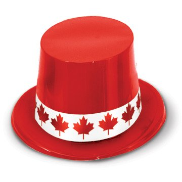Red Plastic Topper w/Maple Leaf Band Party Accessory (1 (Maple Leaf Halloween Costumes)