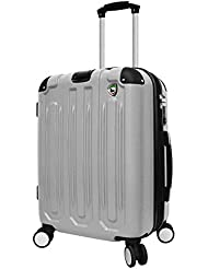 Mia Toro Metallo Composite Hardside Spinner Carry-On, Grey, One Size