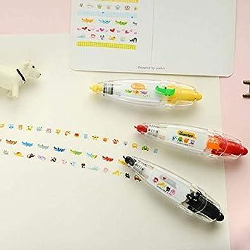 Color: Pattern for boys Davitu Pen Stamp Cartoon Cute Sweet Decorative Correction Tape Fita Cetim Deco Rush Papeleria Cinta Correctora Kawaii School Materials
