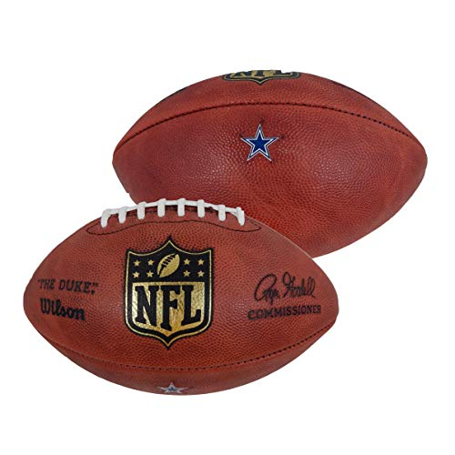 Dallas Cowboys Official Game Issued Wilson Authentic The Duke Football With Team Decal