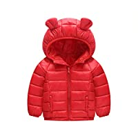 Baby Winter Hooded Jacket Down Coat Warm Waterproof Lightweight Tops Outfits 12-18 Months