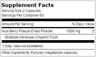 Buy acai berry capsules 500mg