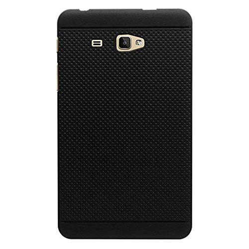 KANICT Dotted Matte Finished Soft Skin Rubbersied Back Case Cover for Samsung Galaxy J Max/T285 T280 Tablet (Black)
