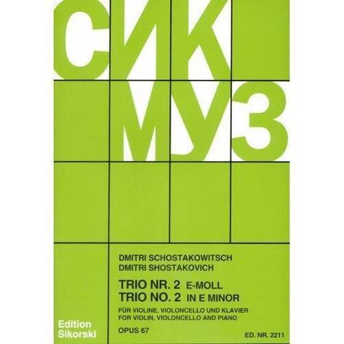 Shostakovich, Dmitri - Piano Trio No. 2 in e minor, Op. 67. For Violin, Cello and Piano Schirmer