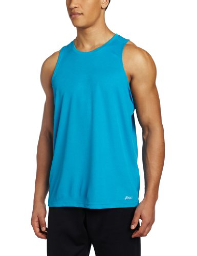 (ASICS Men's Ready Set Singlet, Medium, Atomic Blue)