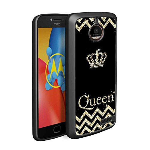 (TPU Case Fits for Moto E4 (2017) 5 Version Crown for Queen)