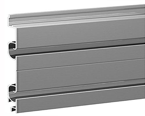 diamondLife HSLE.AL.0648.CLR SlatWall EMX, 6'' x 48'', Silver