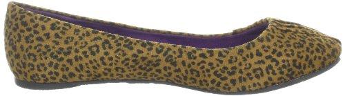 Blowfish Page Ballerina BF2300 AU12 - Bailarinas para mujer, color negro, talla 42 Negro (black/rust baby cheetah PU BF224)