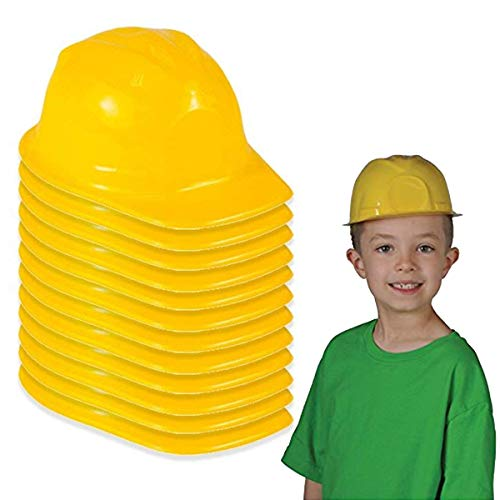 Construction Hat Toy -12 Pack Yellow, for Kids,