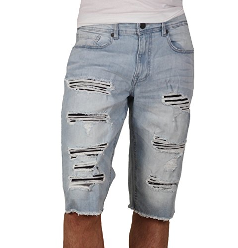 Jordan Craig Shredded Denim Shorts by Jordan Craig