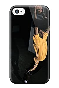 Rugged Skin Case Cover For Iphone 4/4s- Eco-friendly Packaging(kobe Bryant)