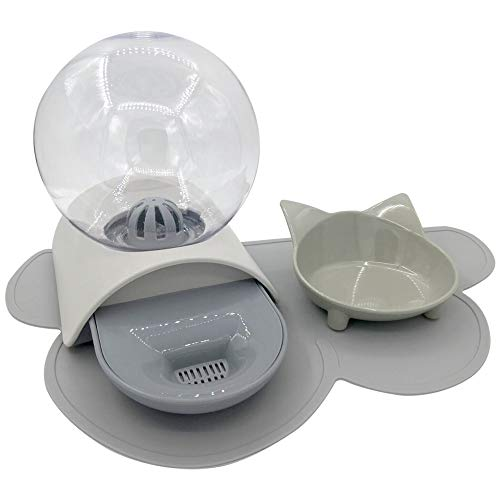FYSLIYO Dog and Cat Water Fountain Bubble pet Water Fountain Food Bowl Pets placemat 3set