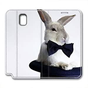 Note 3 leather Case,Note 3 Cases ,Sitting rabbit hat Custom Note 3 High-grade leather Cases