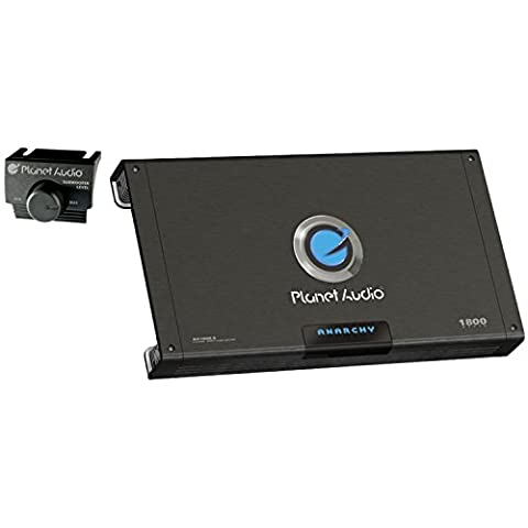 Planet Audio AC1800.5 Anarchy 1800 Watt, 5 Channel, 2/4 Ohm Stable Class A/B, Full Range, Bridgeable, MOSFET Car Amplifier with Remote Subwoofer (Crossover 8 Ohm Speaker 2 Ohm)