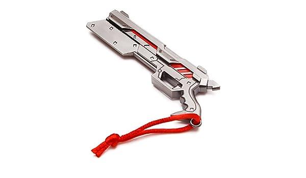 10 cm Collectibles Juego LOL el purificador de Lucian aleación de zinc arma pistola de simulación modelo Llavero Colgante Regalo Novio De Cosplay: Amazon.es: Joyería